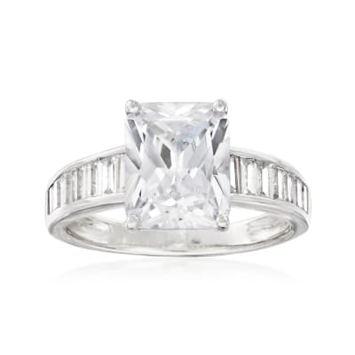4.60 ct. t.w. CZ Shank Ring in Sterling Silver