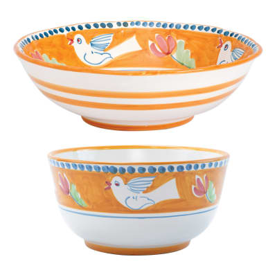 "Vietri ""Campagna Uccello"" Serving Bowl from Italy"