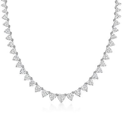 25.05 ct. t.w. Diamond Heart Necklace in 14kt White Gold