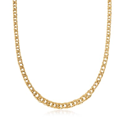 Italian 14kt Yellow Gold Graduating Link Necklace