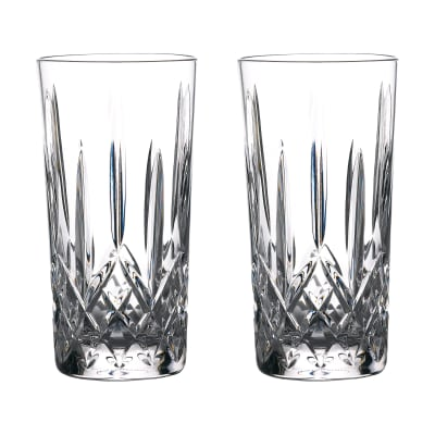 "Waterford Crystal ""Gin Journeys"" Set of Two Lismore Highball Glasses"