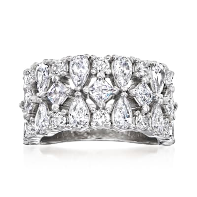 4.40 ct. t.w. Multi-Shaped CZ Ring in Sterling Silver