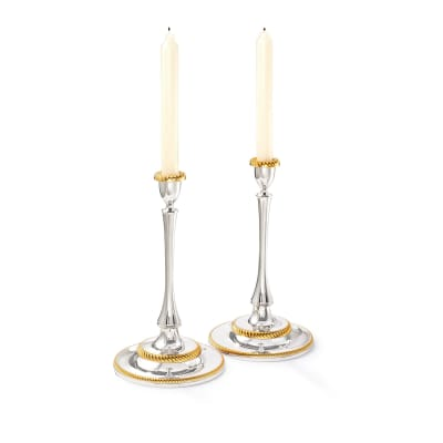 "Reed & Barton ""Roseland"" 2-pc. Two-Tone Candlestick Set"