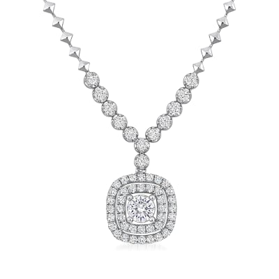 2.73 ct. t.w. Diamond Necklace in 18kt White Gold