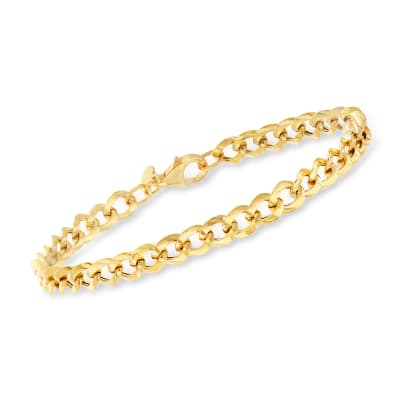 Italian 18kt Yellow Gold Curb-Link Bracelet