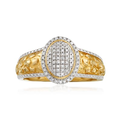 .14 ct. t.w. Diamond Cluster Ring in 14kt Yellow Gold