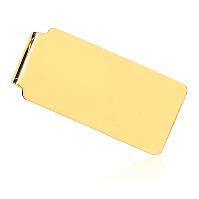 14kt Yellow Gold Three-Initial Money Clip