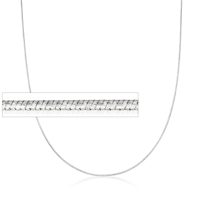 Italian 1mm Sterling Silver Adjustable Snake Chain Necklace