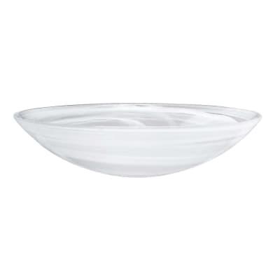 """Mariposa """"Alabaster Glass"""" White Serving Bowl"""