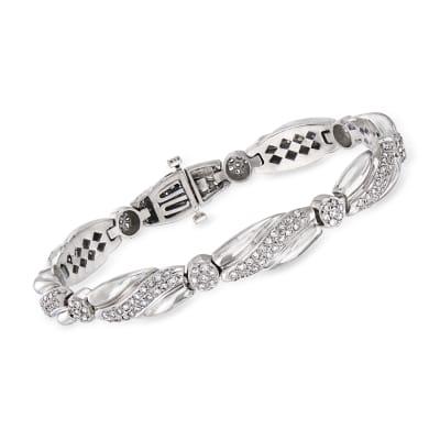 C. 1980 Vintage 3.20 ct. t.w. Diamond Bracelet in 14kt White Gold