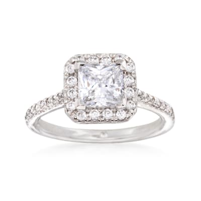 Gabriel Designs .37 ct. t.w. Diamond Engagement Ring Setting in 14kt White Gold
