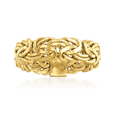14kt Yellow Gold Byzantine Ring