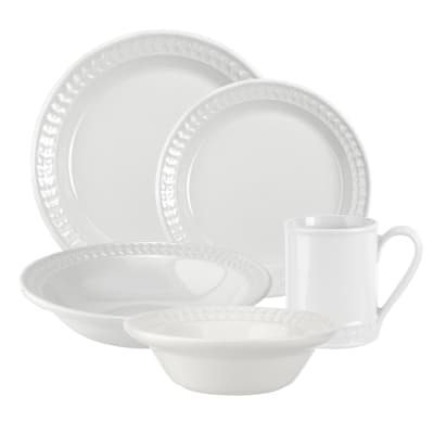 "Portmeirion ""Botanic Garden Harmony"" White Dinnerware"