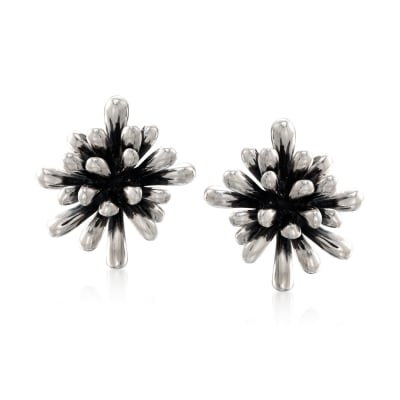 "Zina Sterling Silver ""Fireworks"" Clip-On Earrings"