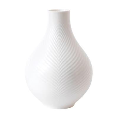 """Wedgwood """"White Folia"""" Bulb Vase"""