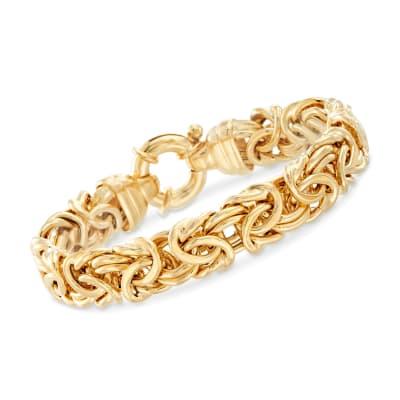 Italian 24kt Gold Over Sterling Silver Byzantine Bracelet