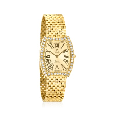 Vicence Women's 25mm 1.15 ct. t.w. Diamond Watch in 14kt Yellow Gold