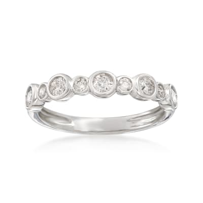 .50 ct. t.w. Bezel-Set Diamond Ring in 14kt White Gold