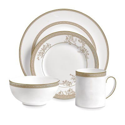 """Vera Wang for Wedgwood """"Lace Gold"""" Dinnerware"""