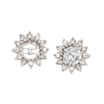 .50 ct. t.w. Diamond Earring Jackets in 14kt White Gold