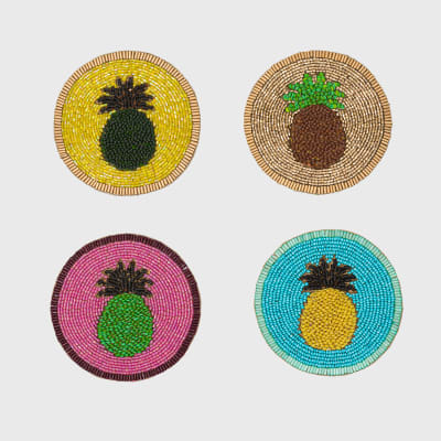 Joanna Buchanan Set of 4 Pineapple Coasters