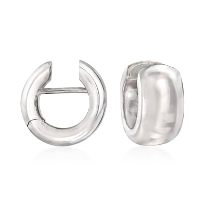 Italian Sterling Silver Huggie Hoop Earrings