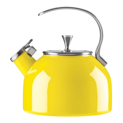 Kate Spade New York 18/10 Stainless Steel Yellow Tea Kettle