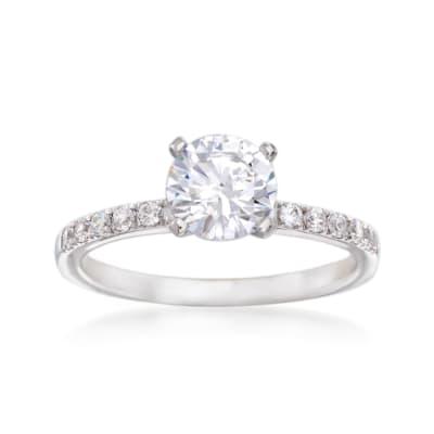 Simon G. .23 ct. t.w. Diamond Engagement Ring Setting in 18kt White Gold