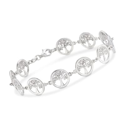 Italian Sterling Silver Tree of Life Bracelet