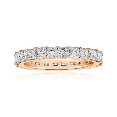 2.75 ct. t.w. Princess-Cut Diamond Eternity Band in 14kt Rose Gold
