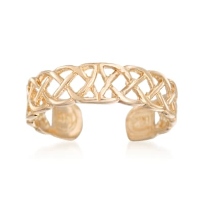 14kt Yellow Gold Celtic Knot Toe Ring