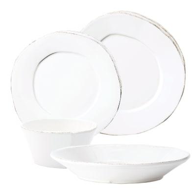 "Vietri ""Lastra"" White Dinnerware from Italy"