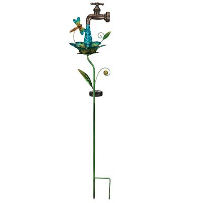 Regal Waterdrop Dragonfly Solar Garden Stake