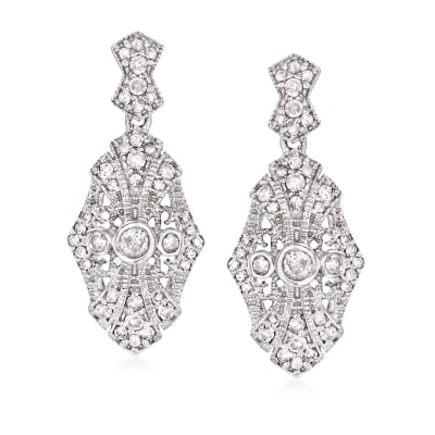 .50 ct. t.w. Diamond Drop Earrings in Sterling Silver