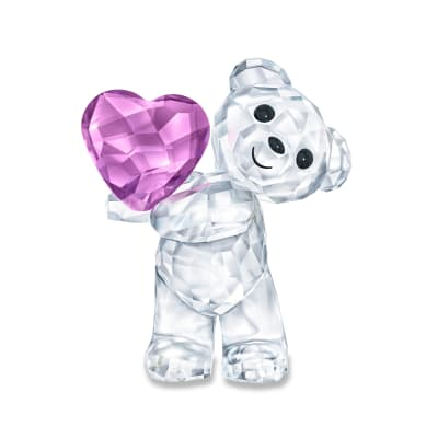 "Swarovski Crystal ""Take My Heart"" Kris Bear Figurine"