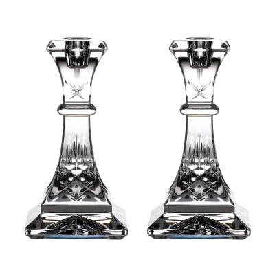 "Waterford Crystal ""Gift Bar"" Pair of Lismore Candlesticks"