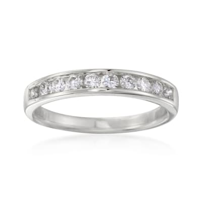 .50 ct. t.w. Channel-Set Diamond Ring in 14kt White Gold