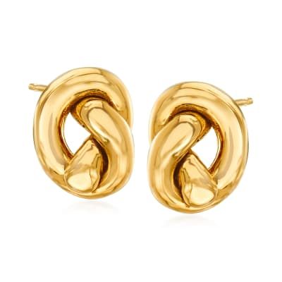 Italian 14kt Yellow Gold Knot Earrings