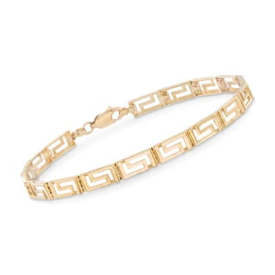 14kt Yellow Gold Greek Key Bracelet