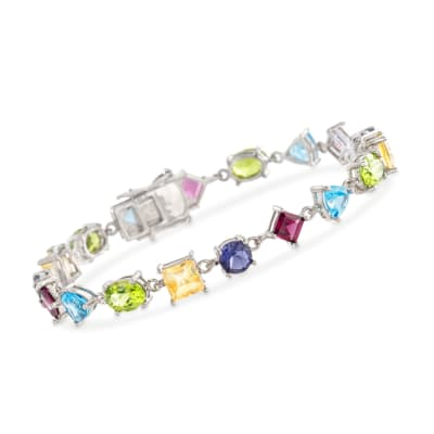 18.50 ct. t.w. Multi-Stone Bracelet in Sterling Silver