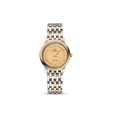 Omega De Ville Prestige Women's 27mm Automatic Stainless Steel and 18kt Yellow Gold Watch