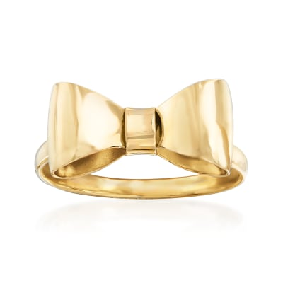 Italian 14kt Yellow Gold Bow Ring