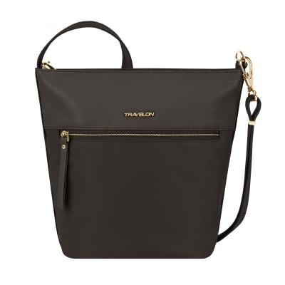 "Anti-Theft ""Addison"" Bucket-Style Black Tote Bag"