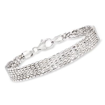 Italian Sterling Silver Multi-Strand Bracelet