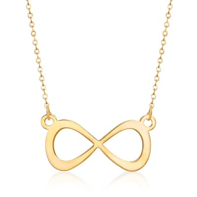 Italian 14kt Yellow Gold Infinity Necklace
