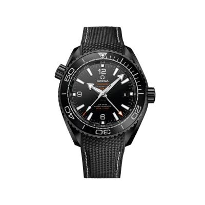 Omega Seamaster Deep Black Men's 45.5mm Black Ceramic Watch with Black Rubber Strap