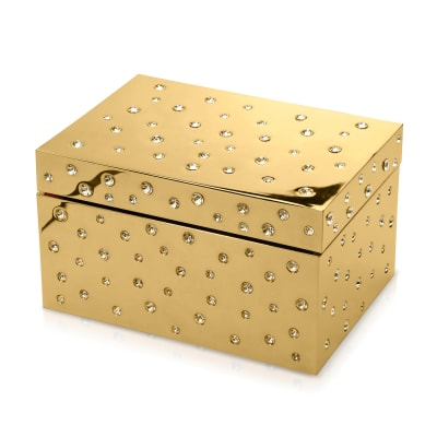 "Crystamas ""Star"" Swarovski Crystal Goldtone Keepsake Box"