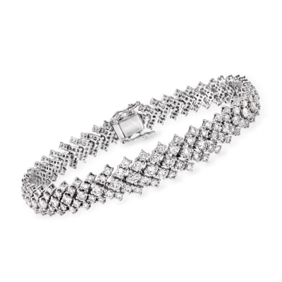 8.49 ct. t.w. Diamond Graduated Bracelet in 18kt White Gold