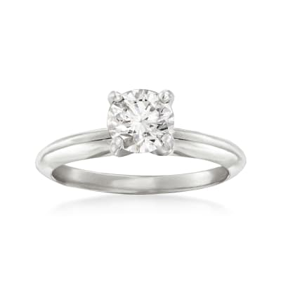 .74 Carat Certified Diamond Solitaire Engagement Ring in 14kt White Gold