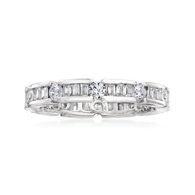 .41 ct. t.w. CZ Eternity Band in Sterling Silver